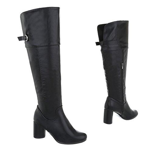 Ital-Design Women's Boots Kitten Heel Heeled Boots at Black JI9euqo