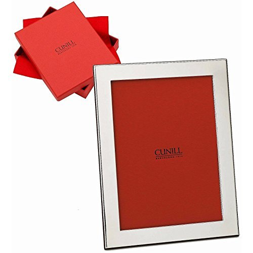 Cunill 242500 Plain 1'' Border 4x6 Frame Sterling Silver Picture Frame