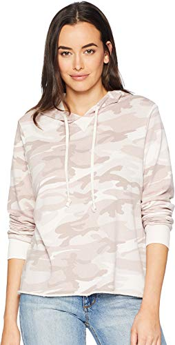Alternative Women's Burnout French Terry Day Off Hoodie Blush Camo X-Small ()