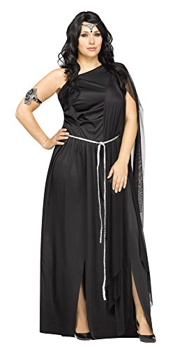 Greek Goddess Plus Size Costumes (Dark Goddess Adult Costume, Plus Size 1X)