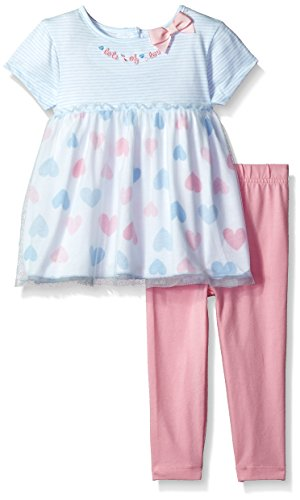 Gerber Baby Girls Tunic and Legging Set, hearts, 24 Months