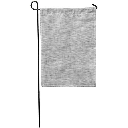 Garden Flag Weave of Realistic Gray Pattern Burlap Mesh Abstract Blank Button Home Yard House Decor Barnner Outdoor Stand 12x18 Inches Flag