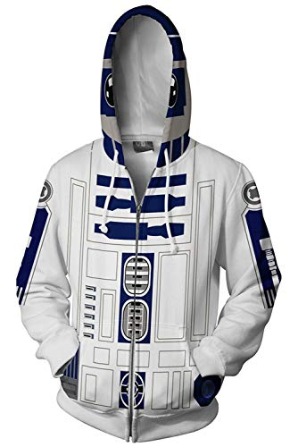 Mutrade Unisex Storm Trooper Character Jacket Adult Zipper Hoodie Halloween Cosplay -