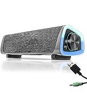 Caixa Caixinha Som Gamer Pc Bluetooth Led Rgb soundbar Para Computador Notebook Gamer Usb Auxiliar P2 Luz de Led Sincronizada