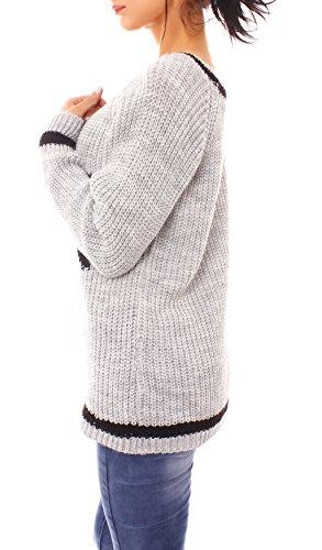 Fragola Moda - Jerséi - para mujer gris claro