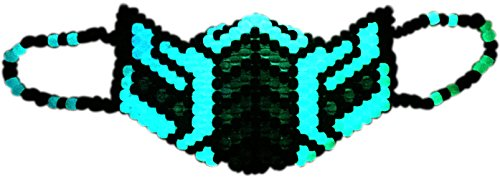Kandi Gear - Inverted Reptile 2nd Ed Glow Kandi Mask (Reptile Mask)