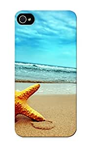 Blackducks Case Cover For Iphone 5/5s - Retailer Packaging Starfish On The Beach Protective Case