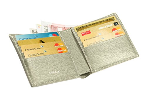 Lucrin   Classic Wallet   Off White   Granulated Leather