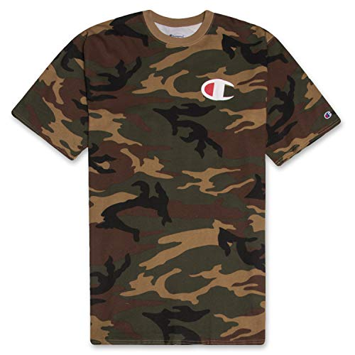 (Champion Mens Big and Tall Big C Logo T Shirt Brown CAMO 3X)