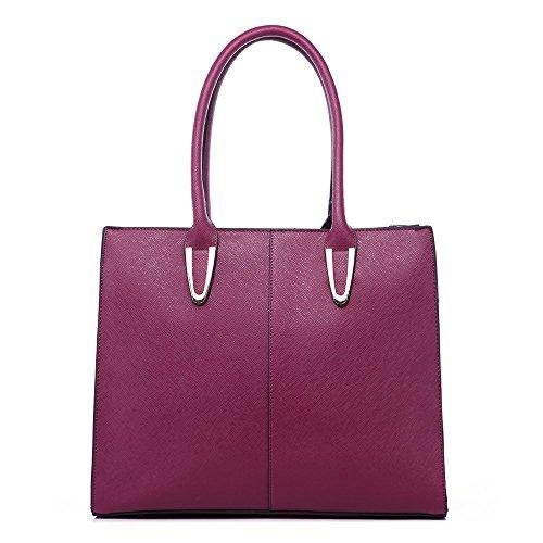 LeahWard® Damen Handtasche Damen Chic Hoch Qualität Große Größe Handtasche Tote Burgund xXPKsCD2E