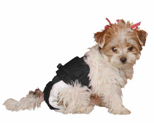 Dog Diaper Wrap XXSMALL BLACK