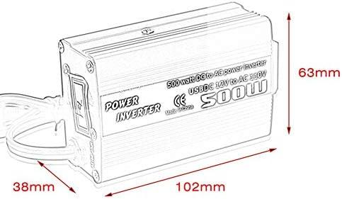 GetBeauty-US 500W DC to AC Power Converter DC 12V to 110V 220V AC Car Inverter with Dual USB