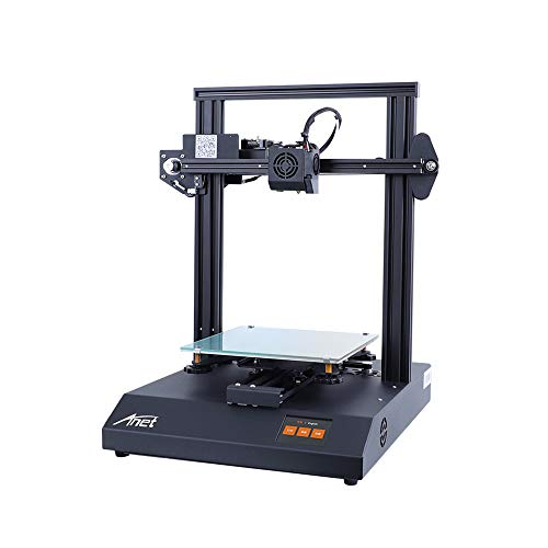 3 idea Imagine Create Print Upgrade High Precision with 2.8 Inch Full Color Touchscreen Heatbed 8GB TF Card PLA Sample Filament Support Auto Leveling Anet ET4 Pro 3D Printer, 220 x 220 x 250mm