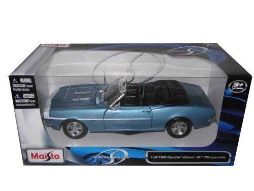 #31683 Maisto Special Edition 1968 Chevrolet Camaro SS 396 Convertible,Blue 1/24 Scale Diecast