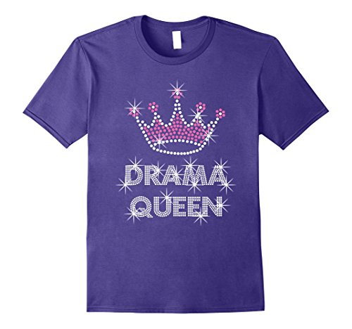 Actress Film (Mens Drama Queen T-shirt Acting actress film student Large Purple)