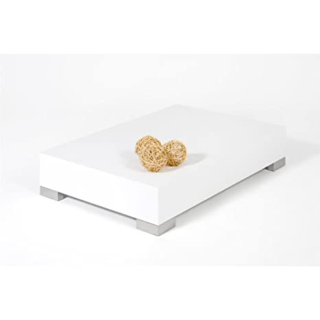 Legno Mobili Fiver iCUBE 60 Tavolino da Salotto 60x60x18 cm Bianco Frassino