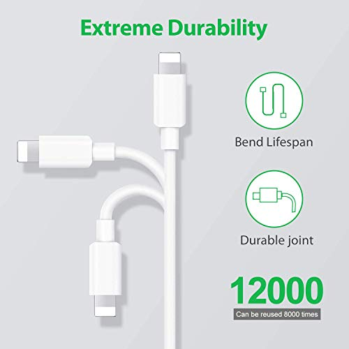 [Apple MFi Certified] iPhone Charger, Lightning Cable 2 Pack 3FT Fast Charging Data Sync Transfer Cord with 2 Pack USB Rapid Charging Plug Wall Charger Compatible with iPhone 11/XS/XR/X 8 7 6 5, iPad