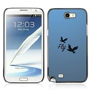 YOYOSHOP [Beautiful Message Fly] Samsung Galaxy Note 2 Case