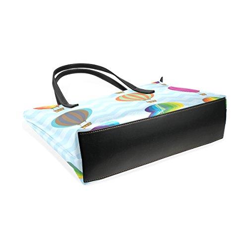 COOSUN Heißluftballons Pu-lederner Schulter-Beutel-Geldbeutel und Handtaschen-Einkaufstasche für Frauen