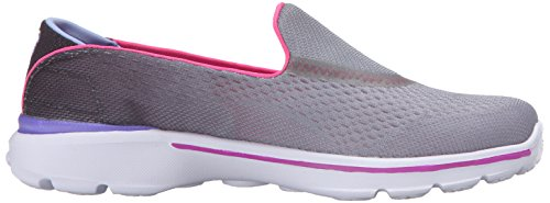 Skechers Kids Go Walk 3 Slip On (Little Kid/Big Kid) Black/Hot Pink