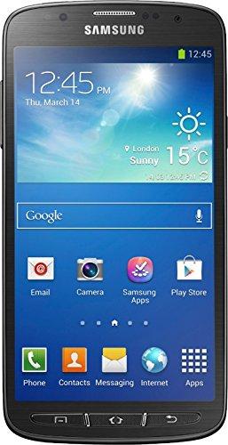 bolsa del cinturón / funda para Samsung Galaxy S4 Active, negro + Auriculares | caja del teléfono cubierta protectora bolso - K-S-Trade (TM)