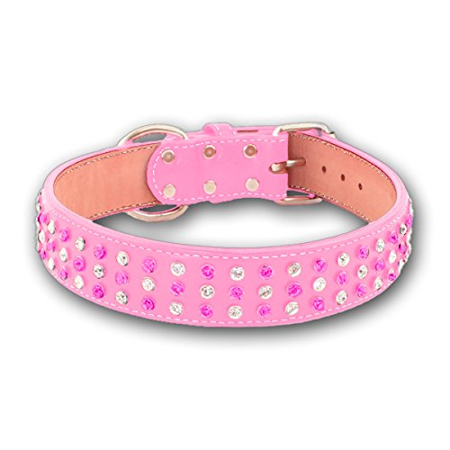 "Auburn Leathercraft Maxwell & Madison 3-ROW Collar 1-1/2"" x 32"" PINK"