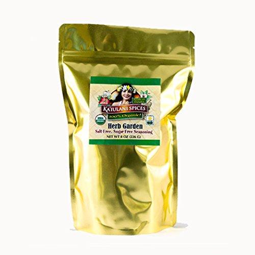 Organic Vegan Herb Garden Seasoning - No Salt, No Sugar, Gluten Free, No Nuts (8 oz) ()