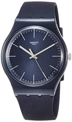 Swatch Naitbayang SUON136 Blue Silicone Quartz Fashion Watch (Swatch Mens Watch Silicone)
