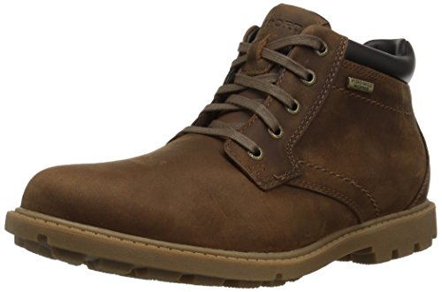 Rockport Men's Storm Rider Plain Toe Boot Winter Boot, boston tan leather, 9.5 M - Winter For Men Boots Rockport