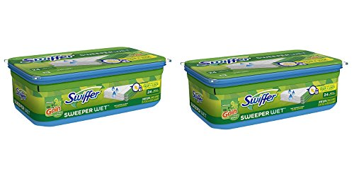 Swiffer Sweeper Wet fDNIv Mopping Pad Refills for Floor Mop Gain Scent, 24 Count (2 Pack)