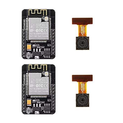2 Pack ESP32-CAM WiFi + Bluetooth Camera Module Development Board ESP32 with Camera Module OV2640 by Xiuxin
