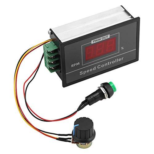Sydien DC6-60V 6V 12V 24V 48V 30A PWM DC Motor Speed Controller, Stepless Speed Regulation Start Stop Switch with Digital Display
