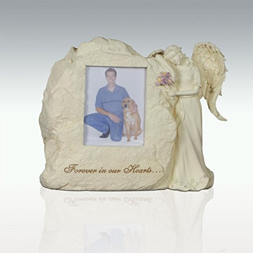 - AngelStar 11-Inch by 9-Inch by 4-1/2-Inch Pet Urn with Frame, Forever in Our Hearts