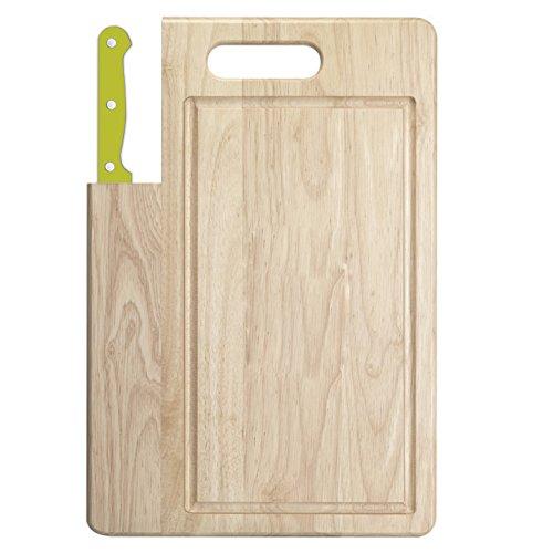 UPC 079061014868, Ginsu Essential Series 2-Piece Large Cutting Board and Lime Green Santoku Knife Set, 04880LGDS