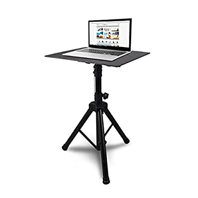 "Pyle Laptop Device Stand - Height Adjustable Tripod Mount | For Laptop, Notebook, Mixer, Amplifier | 20"" x 16"" Tray Size (PLPTS4) from Sound Around"