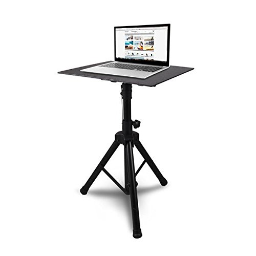 Pro 28″- 46″ Universal Device Stand – DJ Laptop Projector Stand, Height Adjustable Laptop Stand, Computer DJ Equipment Studio Stand Mount Holder, Good For Stage or Studio – Pyle PLPTS4