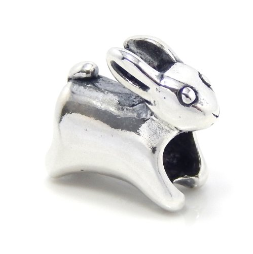 Pugster Rabbit Charm (Pro Jewelry .925 Sterling Silver