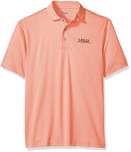 Oxford NCAA Mercer Bears Men's Houston Performance Polo Shirt, Large, Coral Quartz