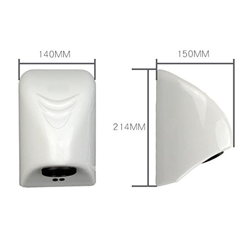 220V Hand Dryer Wall Mounted Fast Electric Automatic Warm Air Drier Toilet