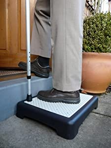 Instant Height Non Slip Outdoor Step Half Step instantly reduces height of doorsteps. Mobility Aid. & Instant Height Non Slip Outdoor Step Half Step instantly reduces ... Pezcame.Com