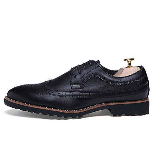 Classic Scarpe Comode Intaglio Oxford Antiscivolo Business Scarpe Cricket Nero da Casual da Men's qxXtTI