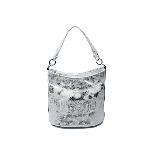Obc Only-beautiful-couture - Shoulder Bag For Black Women Black Ca .: 29x40x19 Cm (bxhxt) Silver