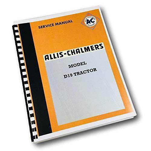 Factory Allis Chalmers D19 Tractor Service Repair Manual Shop Book Dealers OEM