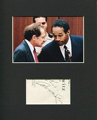 Alan Dershowitz Famous OJ Simpson Lawyer Rare Signed Autograph Photo Display from HollywoodMemorabilia