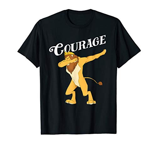 Fun Oz Cowardly Dabbing Lion Courage Shirt Art-Wizard Of Oz  T-Shirt