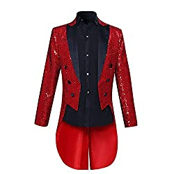 Men's Sequin Tailcoat Jacket