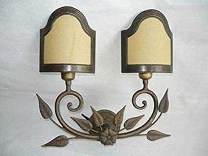 Applique da parete lampada liberty a due luci con ventole