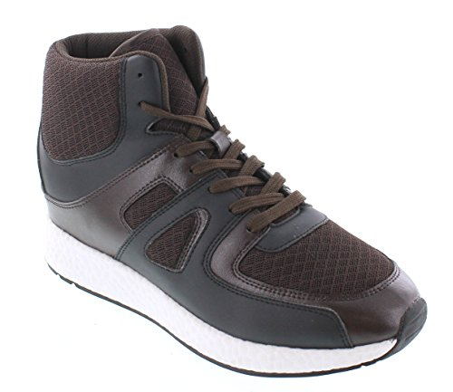 And Brown 3 2 Leather Men CALTO Mesh Inches Sneakers U8x6zB