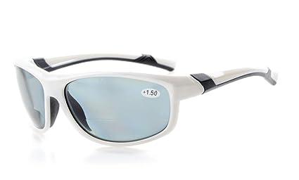gafas de sol bifocales de lectura polarizadas gafas tintadas Womens Wraparound estilo de diseño Sports UV