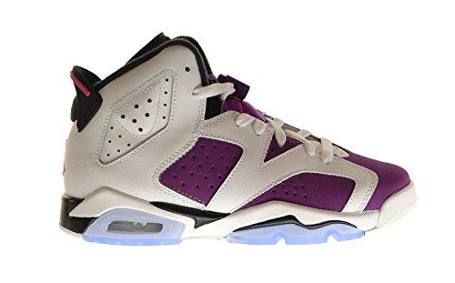Nike Air Jordan 6 Retro GG, Zapatillas de Running para Niñas white, vivid pink-brght grp-blk